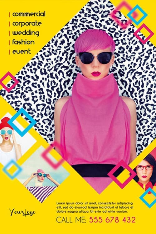 Free Fashion Photography Multipurpose Flyer Template