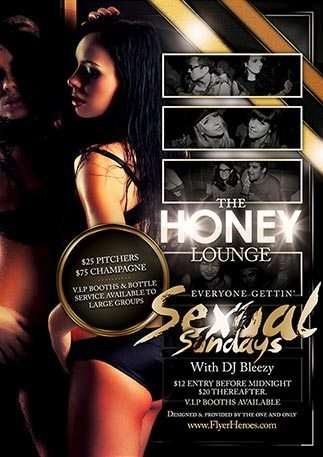 Lounge Flyer Template | Free Honey Lounge Club Flyer Template Download Flyer For Photoshop