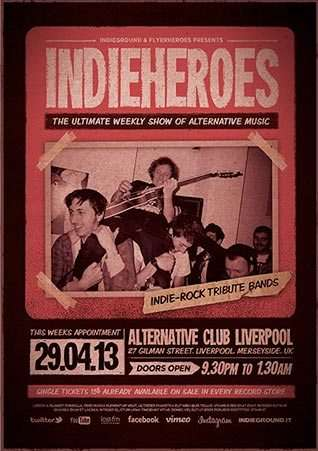 Free Indie Rock Flyer Template - Download Alternative Indie And