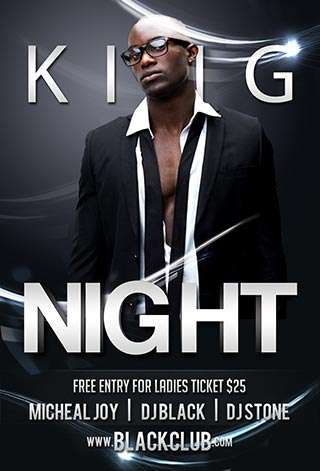 Free King Night PSD Flyer Template - free and premium club party flyer templates for free download print ready free psd flyer templates for free download