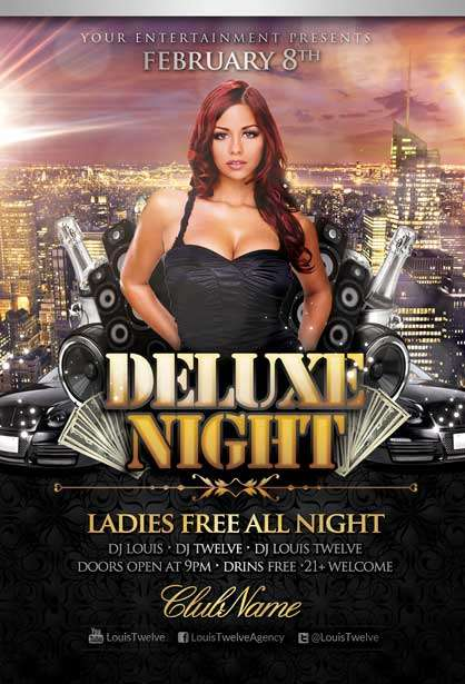 Free Deluxe Party Flyer PSD Template