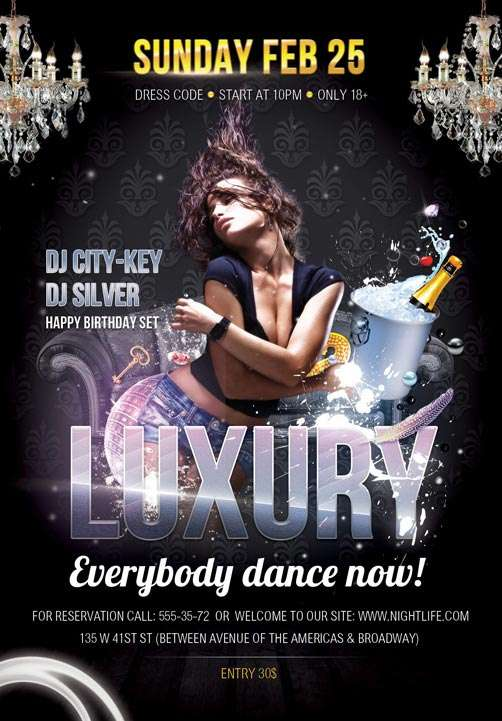 Free Luxury Flyer PSD Template download free psd club flyer