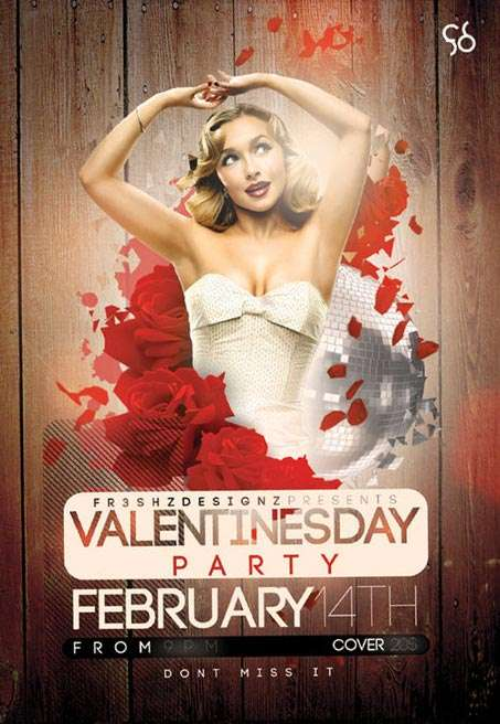 Valentines Day Free Party Flyer Template - free and premium club party flyer templates for free download print ready free psd flyer templates for free download
