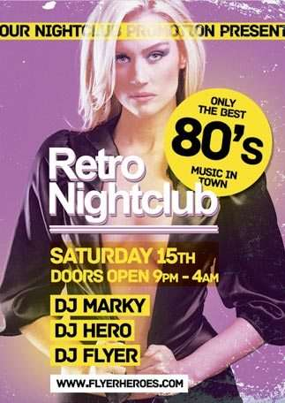 Free Retro Flyer Template free and premium club party flyer templates for free download print ready free psd flyer templates for free download