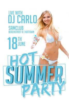 Free Hot Summer Party PSD Flyer Template - Download Free Flyer
