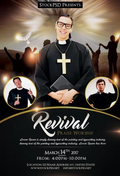 Revival Church Free Flyer Template