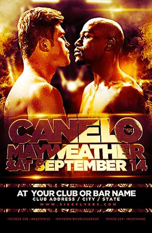 FreePSDFlyer | Download the Canelo Boxing Sport Free PSD Flyer Template