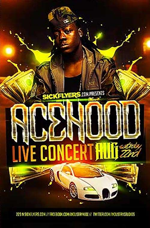 Download the Acehood Free PSD Flyer Template