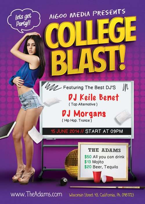 freepsdflyer free college blast psd flyer template download for