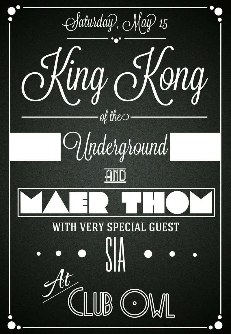 King Kong Club Typographic Free Flyer Template