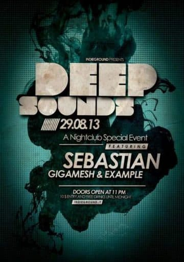 Deep Sound Free PSD Flyer Template