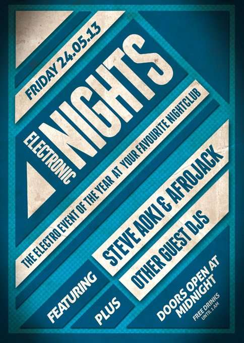 Free Electronic Nights PSD Flyer Template