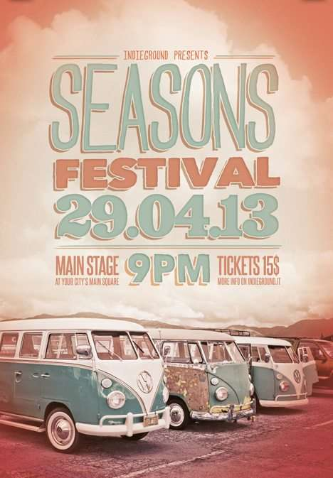 Seasons Festival Free Psd Flyer Template  Download Indie Retro Flyer