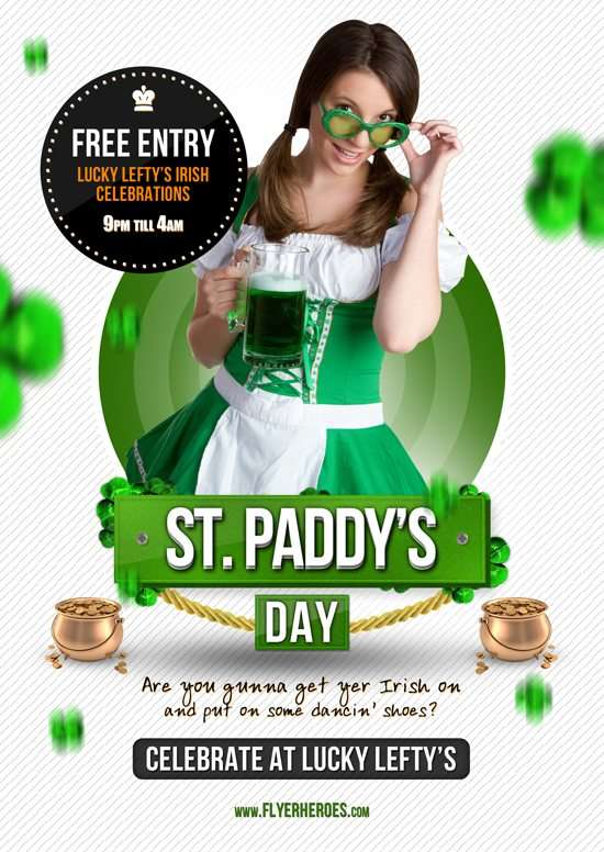 St Paddy's Day Free Flyer Template - free and premium club party flyer templates for free download print ready free psd flyer templates for free download