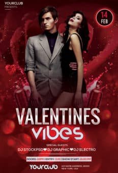Free Valentine's Vibes Flyer Template