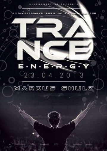 Trance Music Free Flyer Template
