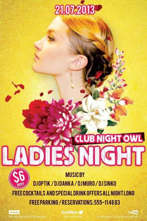 Free Ladies Night Flyer PSD Templates