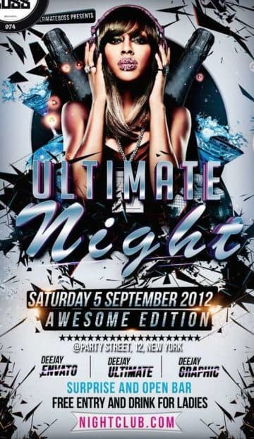 Free Ultimate Night Party Flyer Template