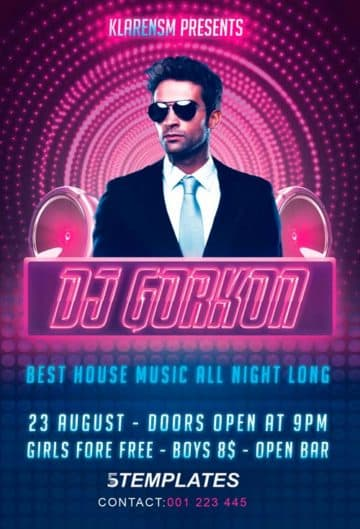 Download the Guest DJ Free PSD Flyer Template