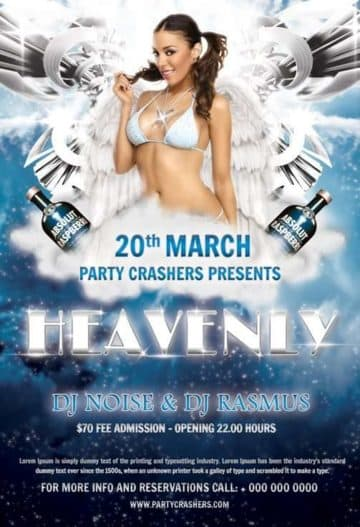 Heavenly Party Flyer Free PSD Flyer Template