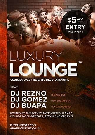Luxury Lounge Free Flyer Template - Download Psd For Photoshop