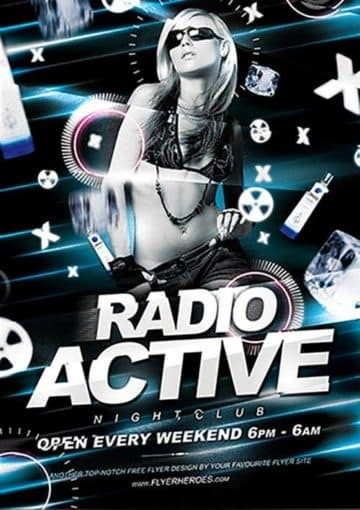 Radio Active Free PSD Flyer Template