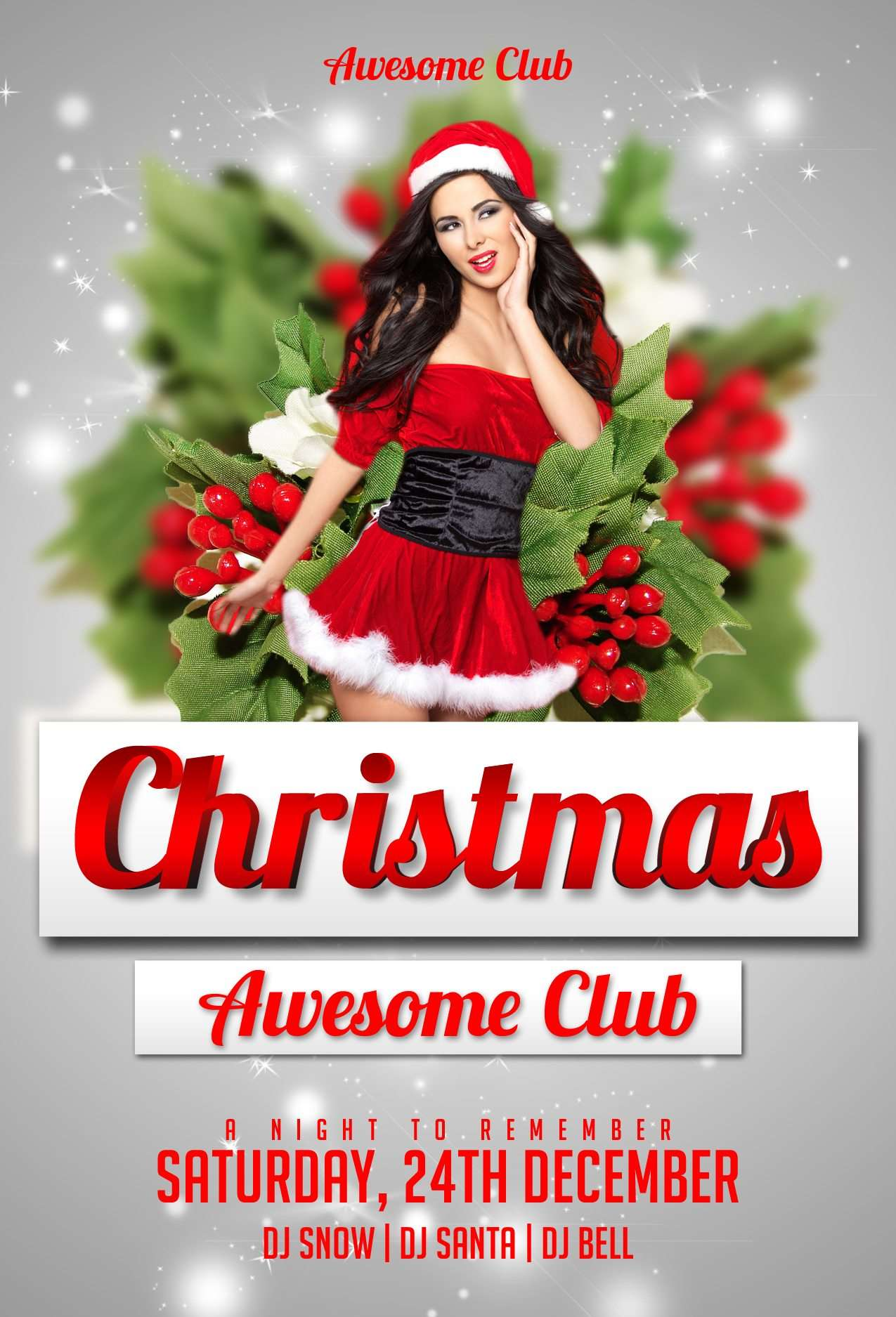 Download the Christmas Free PSD Flyer Template for Photoshop