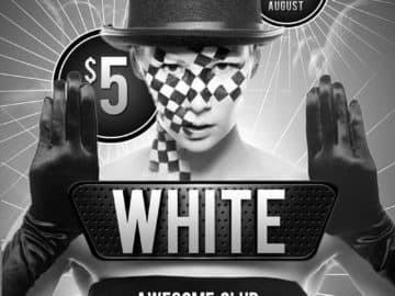 Free Black and White Club PSD Flyer Template