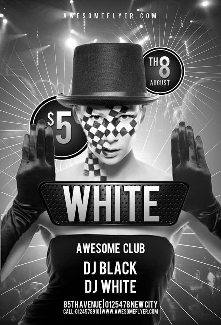 Black White Club Free Psd Flyer Template Download Psd For Photoshop