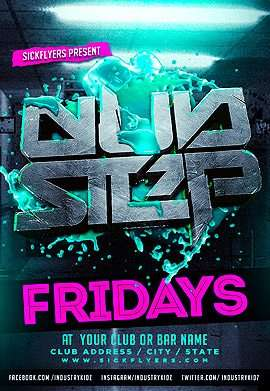 Dub Step Free PSD Flyer Template