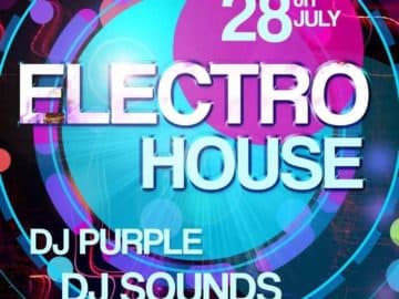 Electro House Party Free PSD Flyer Template