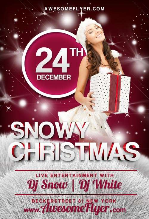 Free flyer: christmas party flyer template