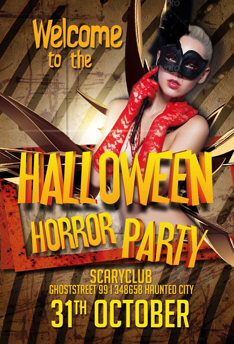 Freepsdflyer free halloween party psd flyer template for Free halloween flyer templates