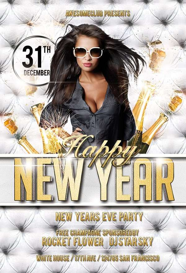 New Year Party Free Psd Flyer Template Download Psd For Photoshop
