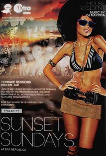 Free Sunset Sundays Flyer Template