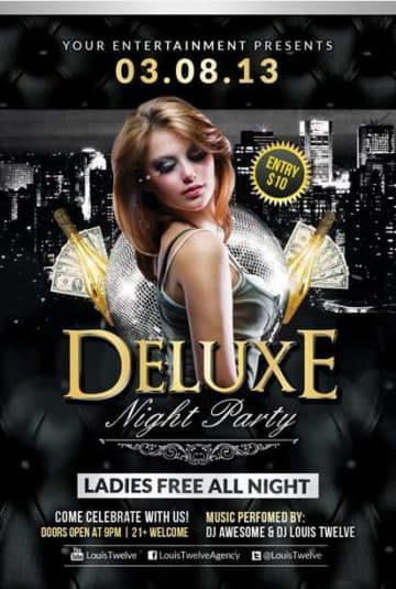 Free Deluxe Night Club PSD Flyer Template