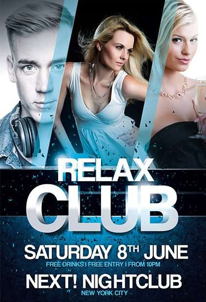 Free Relax Club PSD Flyer Template
