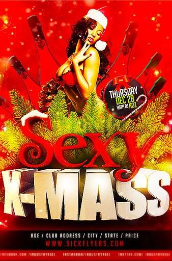 Sexy X-Mass Free PSD Flyer Template
