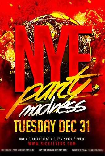 NYE Panty Madness Free PSD Flyer Template
