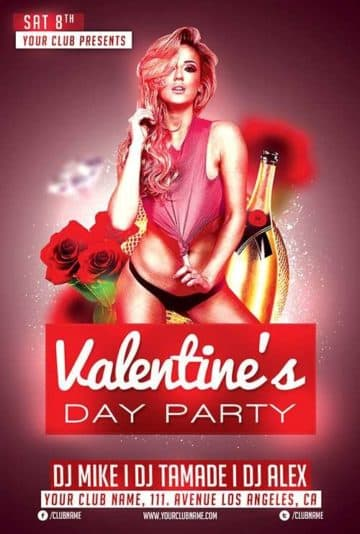 Free Valentines Day Club Flyer Template