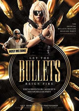 Free Bullets Club Flyer Template