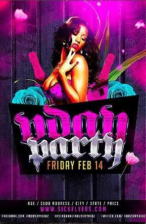 Free Vday Club PSD Flyer Template
