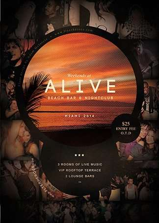 Freepsdflyer  Alive Bar Flyer Template Free Psd Flyer Template