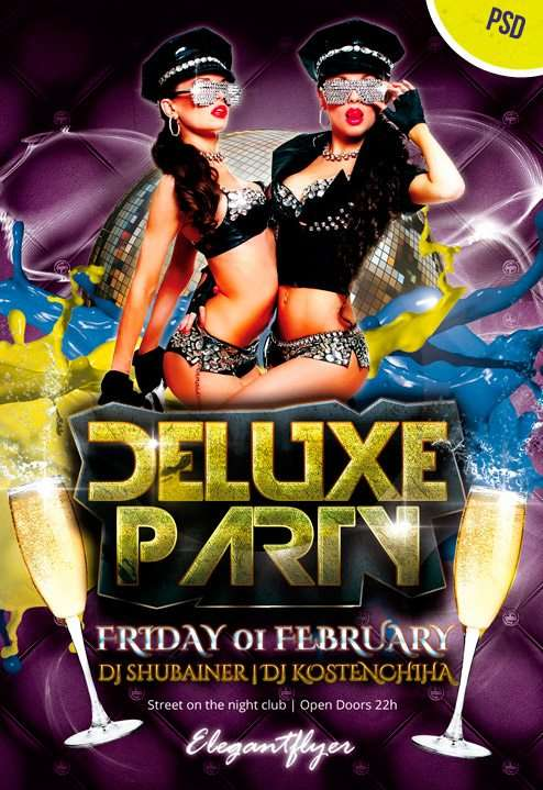 Deluxe Party – Free Flyer PSD Template