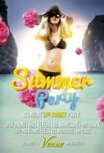Free Summer Beach Party PSD Flyer Template - Club and Party Flyer Print Design Showcase Magazine - Download the best Print Poster and Flyer PSD Templates