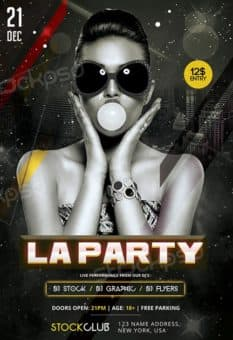 LA Party Free PSD Flyer Template