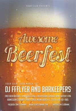 Awesome Beerfest Free Flyer Template