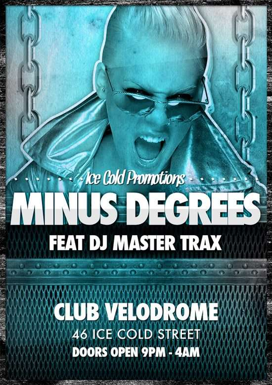 Minus Degrees Ice Cold Free Flyer Template