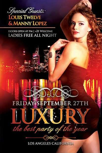 Free Luxury Party Flyer Template