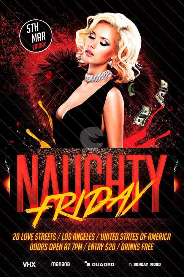 Naughty Friday Free Party Psd Flyer Template Download Freebie Flyer